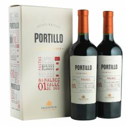 Vino Tinto Malbec Portillo Estuche x 2un.