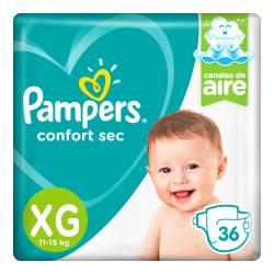 Pañal XG Confort Sec Híper Pampers x 36 un.