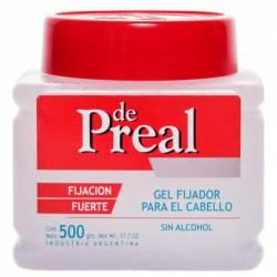 Fijador Gel Fuerte s/Alcohol Preal x 500 g.