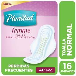 Toalla Incontinencia Normal c/a Plenitud Femme x 16 un.