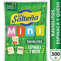 Raviolitos Espinaca y Quesos La Salteña x 300 g.