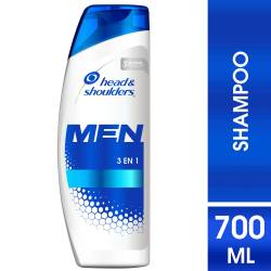 Shampoo Control Caspa Men 3 en 1 Head Shoulders x 700 cc.