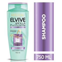 Shampoo Arcilla Purificante 750Ml Elvive x 750 cc.