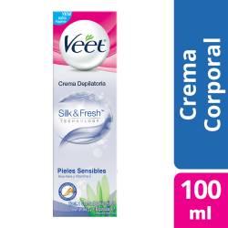 Crema Depilatoria Pieles Sensibles Veet x 100 cc.