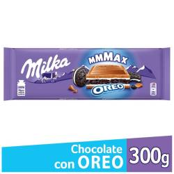 Chocolate c/Leche c/Galletitas Oreo Milka x 300 g.