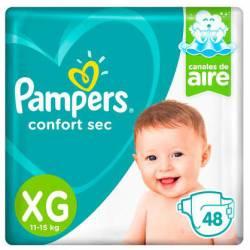 Pañal XG Confort Sec Híper 7.2 Pampers x 48 un.