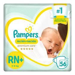 Pañal RN Premium Care Híper 7.2 Pampers x 56 un.