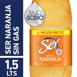 Agua s/Gas Naranja Ser x 1,5 Lt.