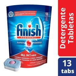 Detergente Tabletas Finish x 13 un.
