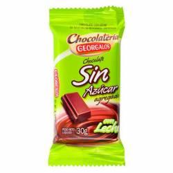 Chocolate con Leche s/Azúcar agregada Georgalos x 30 g.