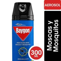 Insecticida Aerosol Moscas y Mosquitos. Baygon x 300 cc.