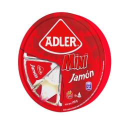 Queso Fundido Mini Jamón Rueda Adler x 8 un. 120 g.