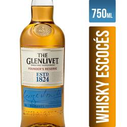 Whisky c/Estuche The Glenlivet x 750 cc.
