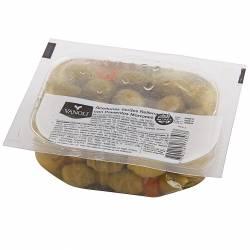 Aceitunas Verdes Rellenas c/Morrón Vanoli x 100 g.