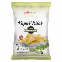 Papas Fritas sabor Crema y Ciboulette Julicroc x 70 g.