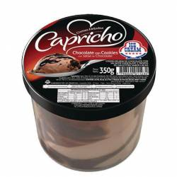 Helado Chocolate c/Cookies Capricho Ice Cream x 350 g.