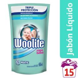 Detergente Líquido Ropa Fina Bebe Dp Woolite x 900 cc.