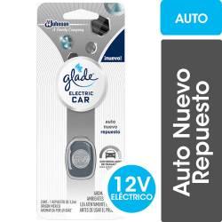 Aromatizante Repuesto Auto Nuevo. Glade x 3 cc.