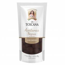 Aceitunas Negras con Carozo Doy Pack La Toscana x 160 g.