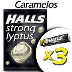 Caramelo Mentol y Eucalipto. Strong Halls x 75 g.
