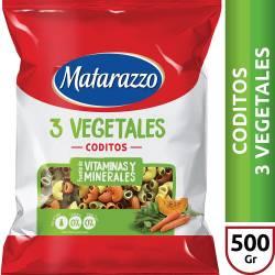 Fideos Coditos 3 Vegetales Matarazzo x 500 g.
