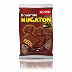 Obleas Rellenas Bañadas c/chocolate Mini Nugaton x 48 g.