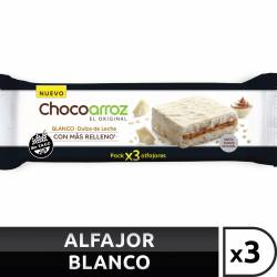 Alfajor de Arroz c/Chocolate Blanco Chocoarroz x 3 un