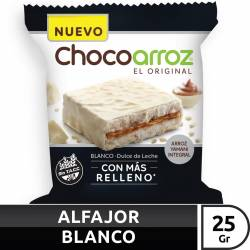 Alfajor de Arroz c/Chocolate Bco Chocoarroz x 25 g.