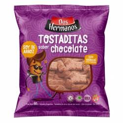 Tostaditas de Arroz Dulces c/Cacao Dos Hermanos x 60 g.