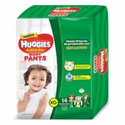 Pañal XG Pants Active Sec Baby Huggies x 14 un.
