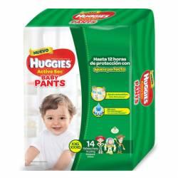 Pañal XXG/XXXG Pants Active Sec Baby Huggies x 14 un.