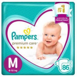 Pañal M Premium Care 7.2 Pampers x 86 un.