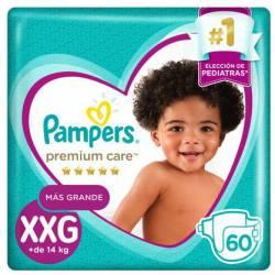 Pañal XXG Premium Care 7.2 Pampers x 60 un.
