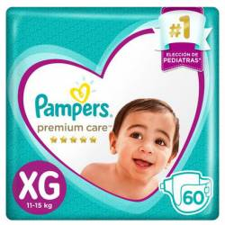 Pañal XG Premium Care 7.2 Pampers x 60 un.