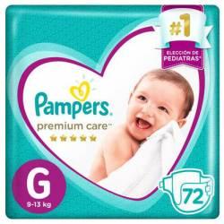 Pañal G Premium Care 7.2 Pampers x 72 un.