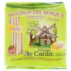 Tostadas de Arroz Light sabor Vainilla Molinos del Bosque x 150 g.