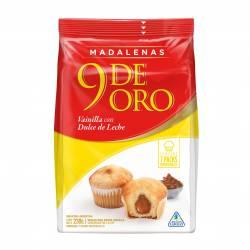 Madalena Vainilla Relleno con Dulce de Leche 9 de Oro x 230 g.
