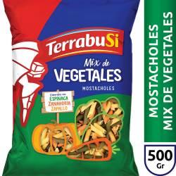 Fideos Mostacholes Mix de Vegetales Terrabusi x 500 g.