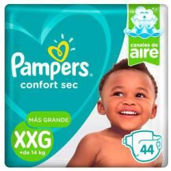 Pañal XXG Confort Sec Híper 7.2 Pampers x 44 un.