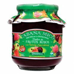Dulce de Frutos Rojos Dietético Cabaña Mico x 380 g.
