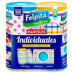 Individuales Decorados 2X50 Paños Felpita x 2 un.