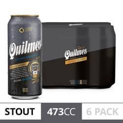 Cerveza Negra Lata Quilmes Stout Pack x 6 Latas de 473 cc.