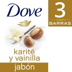 Jabón Tocador Karite & Vainilla Dove x 3 un.