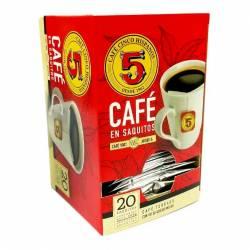 Café en Saquitos Los 5 Hispanos x 20 un.