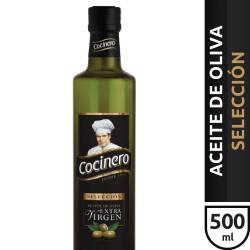 Aceite de Oliva Extra Virgen Vidrio Cocinero x 500 cc.