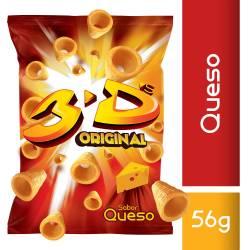 Tubos de Maíz sabor Queso Megatube 3D x 56 g.