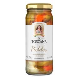 Pickles en Vinagre Frasco La Toscana x 220 g.