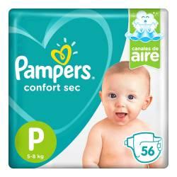 Pañal P Confort Sec Híper Pampers x 56 un.