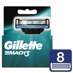 Cartucho de Afeitar Mach 3 Oft Gillette x 8 un.