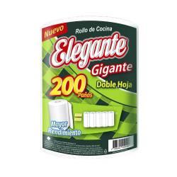 Rollo de Cocina Gigante 200 Paños Elegante x 1 un.